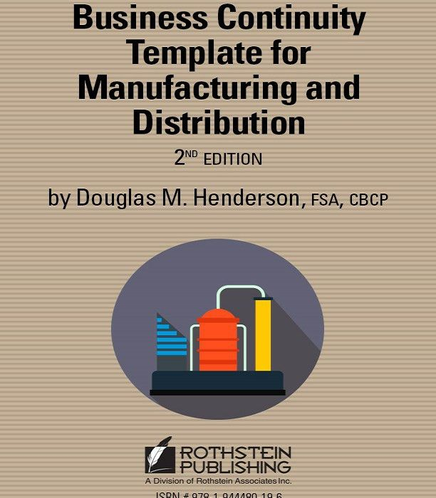 Business Continuity Template For Manufacturing and Distribution ...