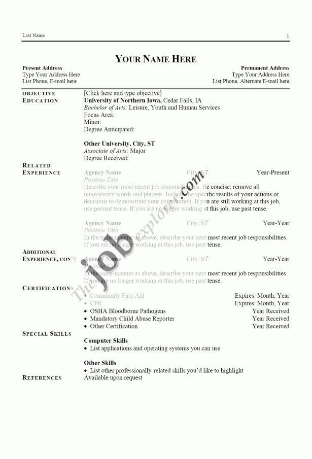 Curriculum Vitae : Server Resume Sample Best Job Resume Format ...