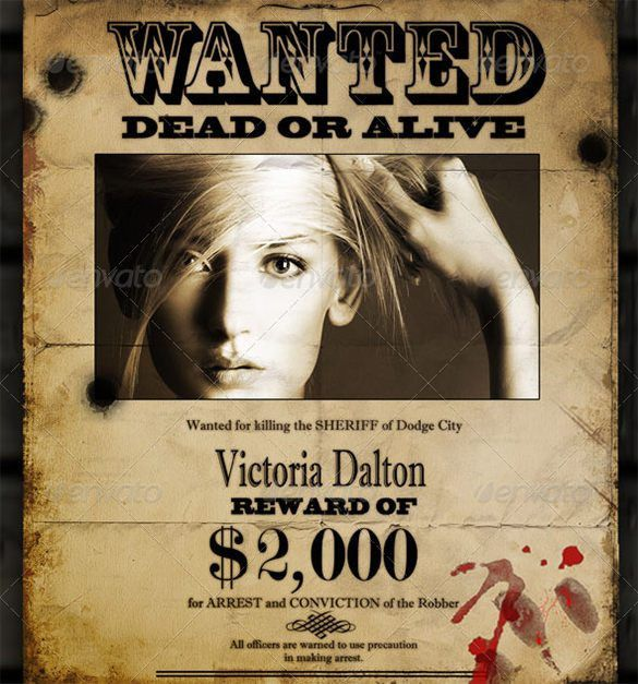 Wanted Poster Template | Free & Premium Templates