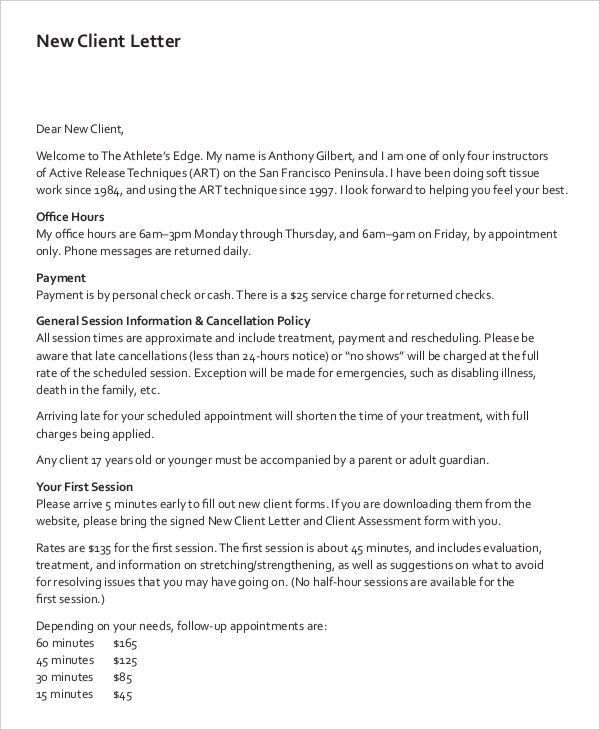 9+ Client Letter Templates - Free Sample, Example Format Download ...