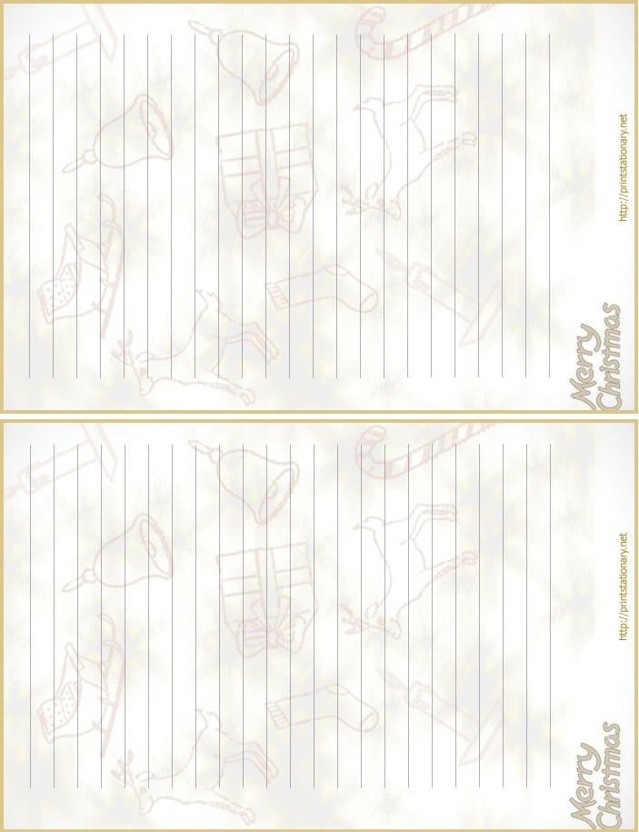 free printable christmas letterhead,free printable lined christmas ...