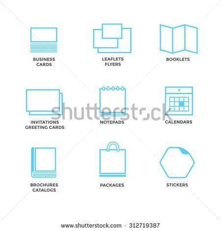 Icons Various Print Media Size Format Stock Vector 312719387 ...
