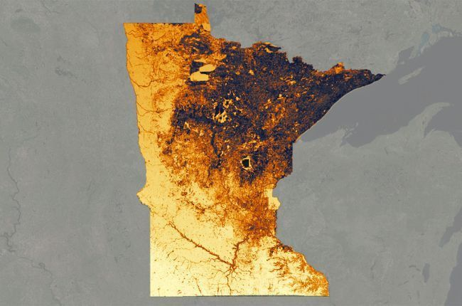 Interactive map of solar energy suitability in Minnesota ...