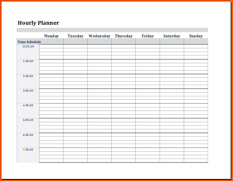 12+ daily planner template word | Survey Template Words