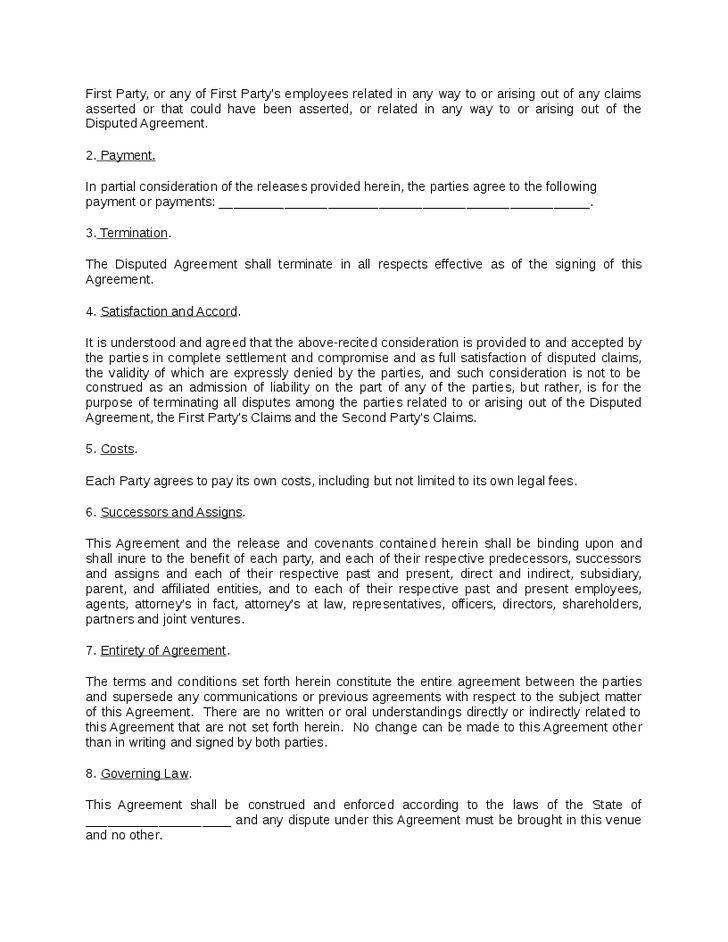 Settlement Agreement Template - Hashdoc