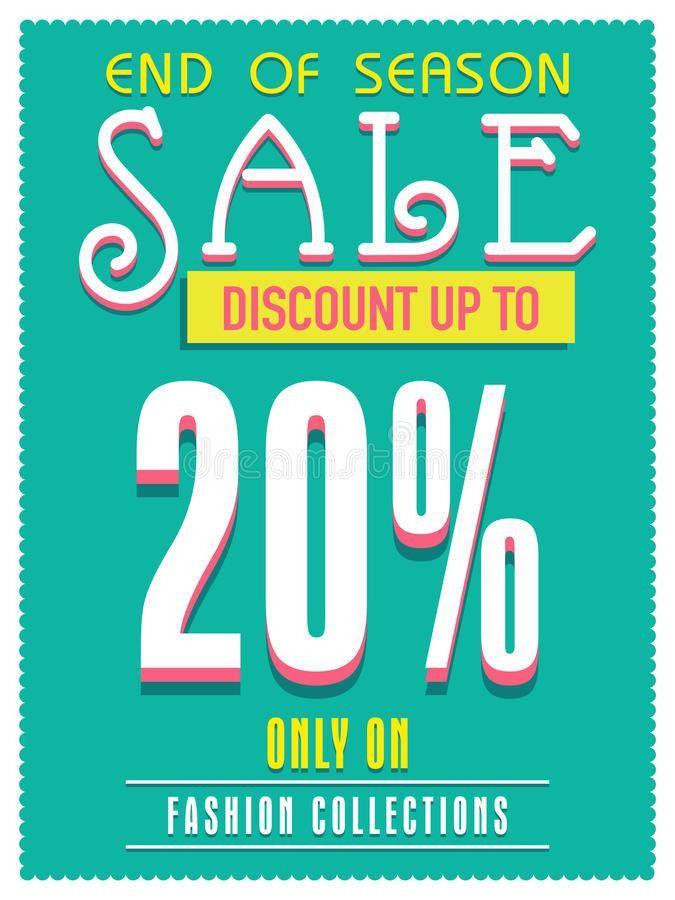 Sale Poster, Banner Or Flyer Design. Stock Illustration - Image ...