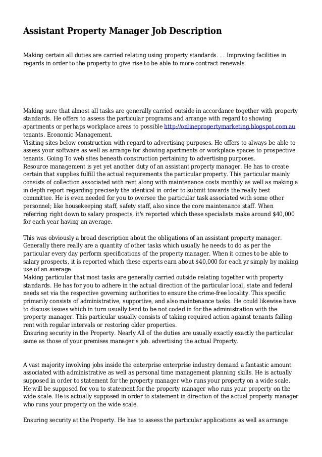 sample property manager resume cover letter sample resume job. 10 ...