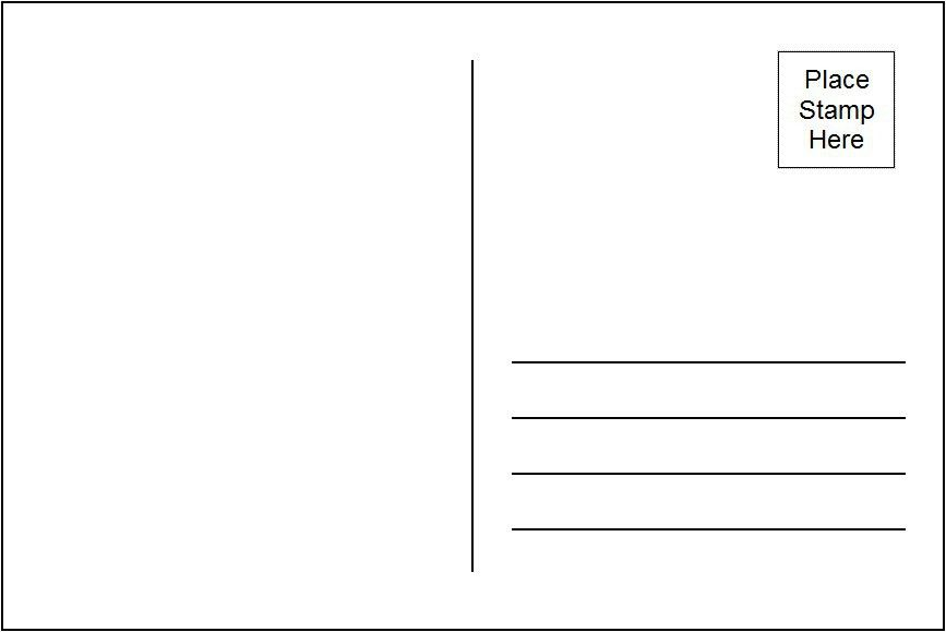 8 Best Images of Printable Postcard Templates For Teaching ...