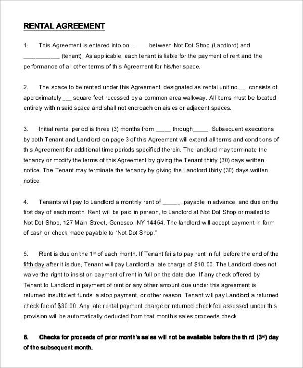 Basic Rental Agreement Letter Template. Rental-Application ...