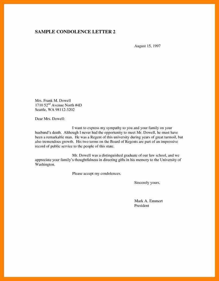 Formal Letter Of Condolence - cv01.billybullock.us