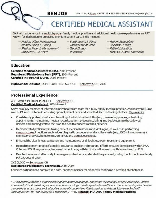 Medical Assistant Resume Objective - Template Examples