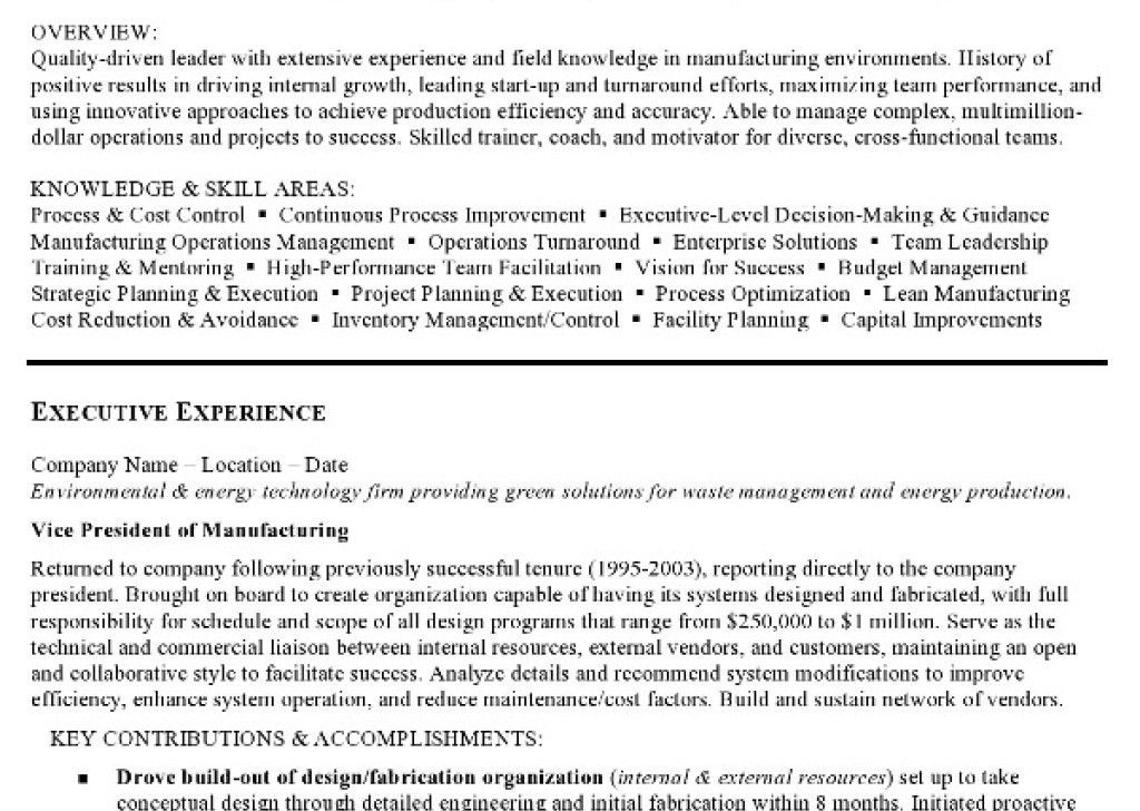 Oceanfronthomesforsaleus Scenic Resume Sample Manufacturing And ...