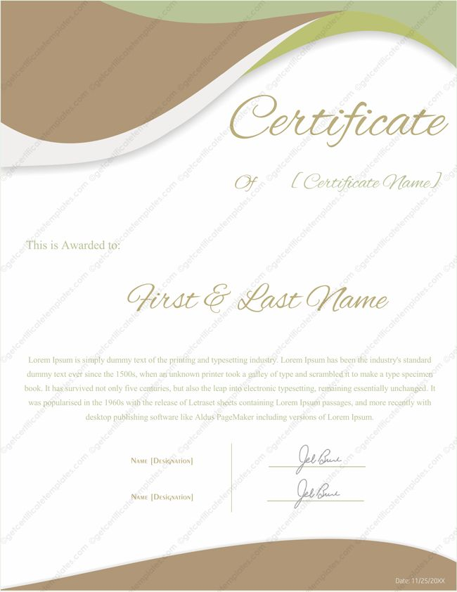 Award Certificate Templates - Editable & Printable in Word