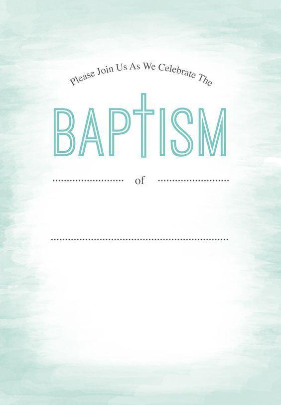 Water - Free Printable Baptism & Christening Invitation Template ...