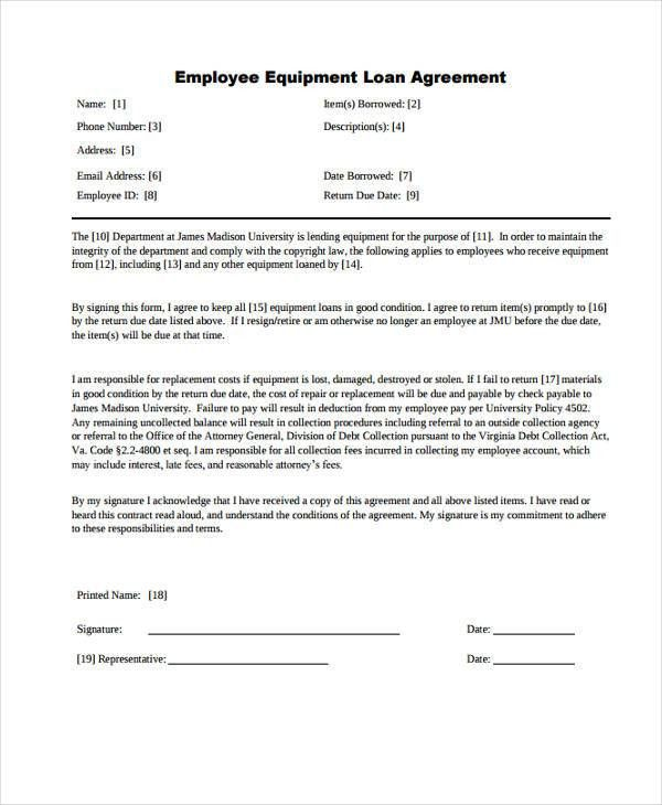 Loan Agreement Form Example   65+ Free Documents In Word, PDF