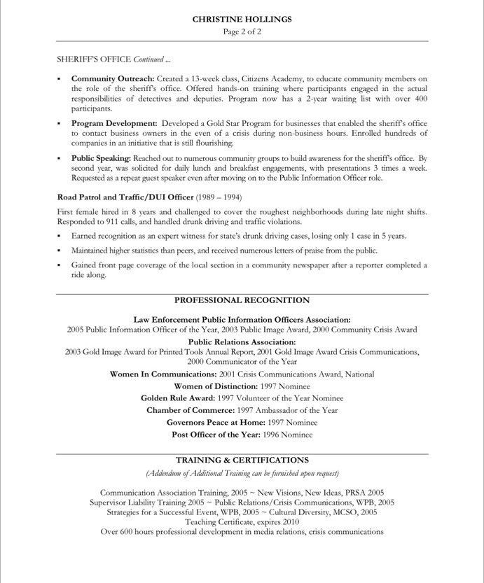 PR Manager-Page2 | Non Profit Resume Samples | Pinterest | Free ...