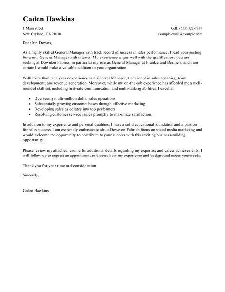 example of general resumes general cover letter sample general ...