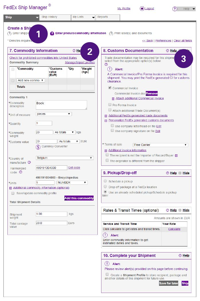 How to Complete International Shipping Documentation - FedEx | Spain