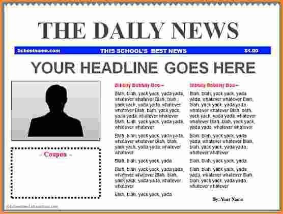 9+ front page newspaper article template | Invoice Template Download