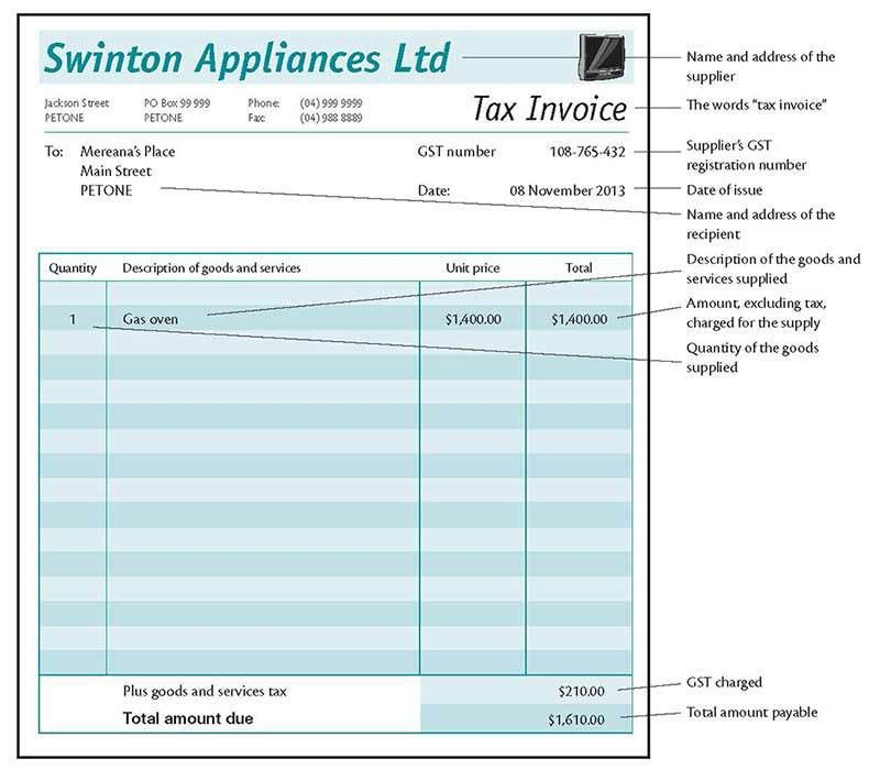Tax Invoice Template Nz | invoice example