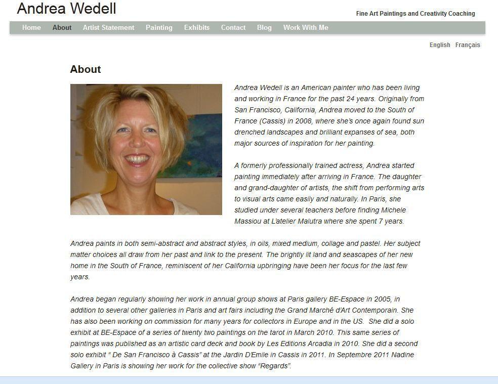 Artist About Page Content - WordPress Artist Websites | Websites ...