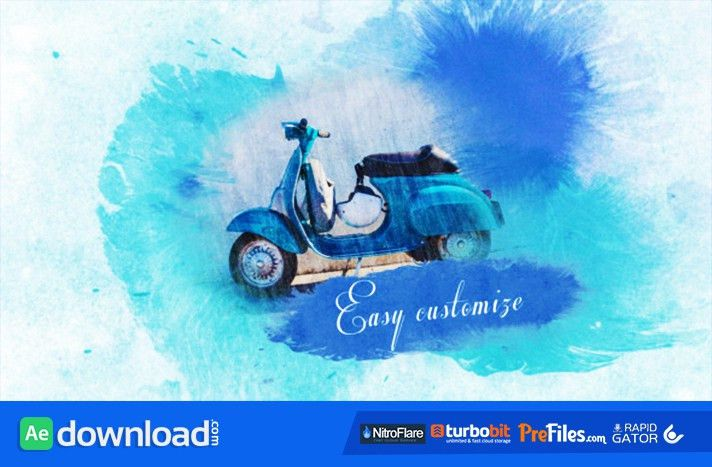 WATERCOLOR SLIDESHOW (VIDEOHIVE) - FREE DOWNLOAD - Free After ...