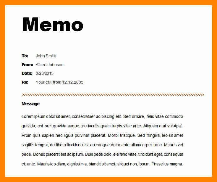 6+ example of memo format | resume sections