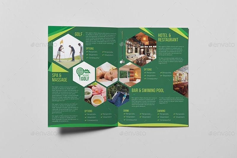Golf Resort/ A5 Brochure Template by wutip2 | GraphicRiver