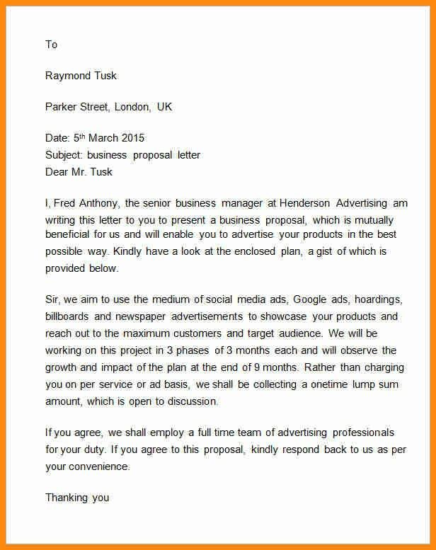 3+ example of a proposal letter | model resumed