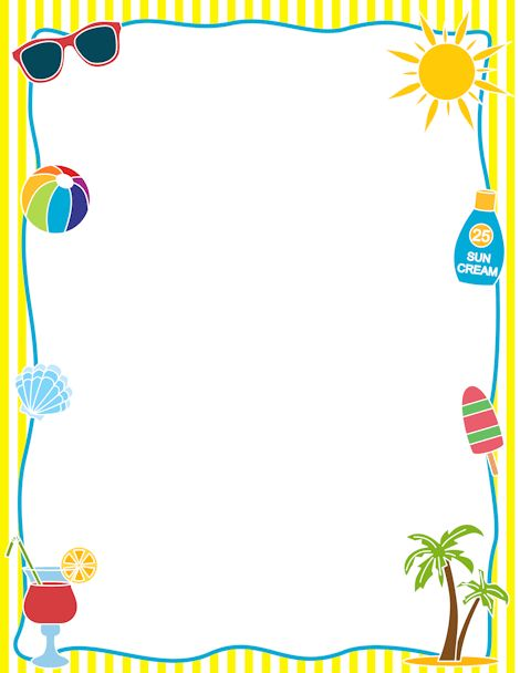 Printable summer border. Free GIF, JPG, PDF, and PNG downloads at ...