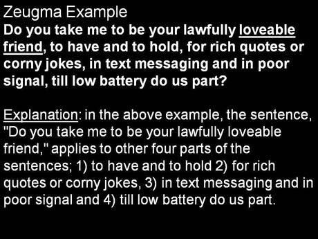 Funny Zeugma Figure of Speech Sentence Definition and Examples ...