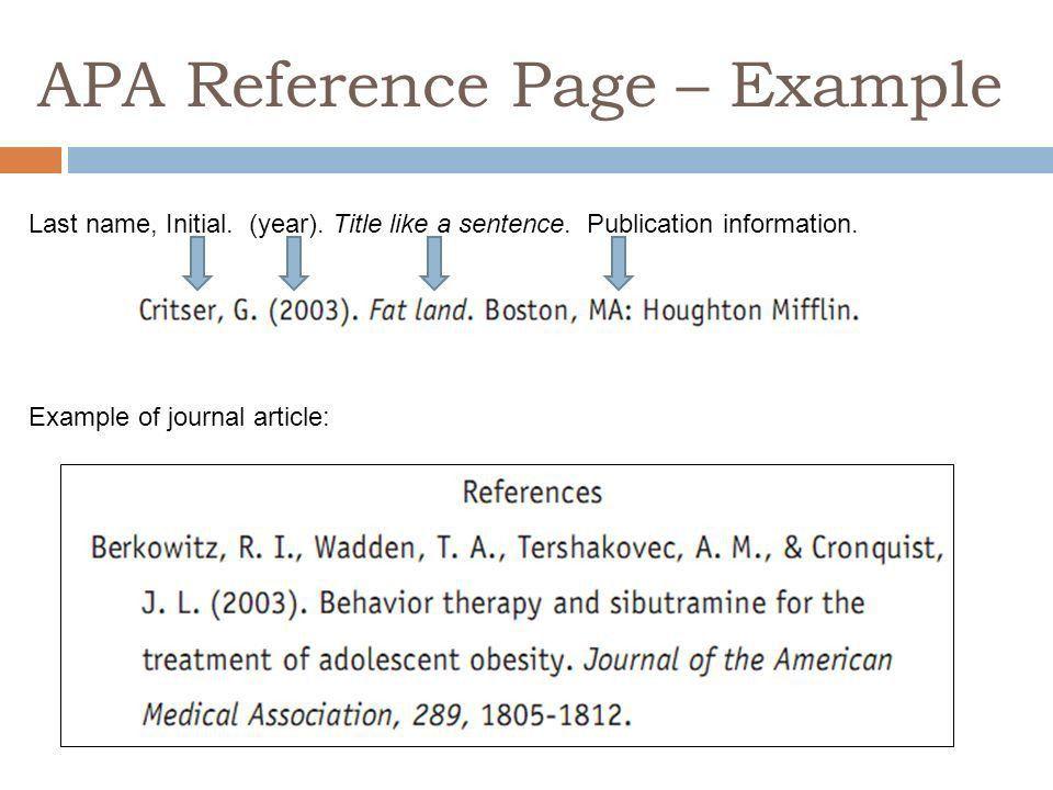 AMERICAN PSYCHOLOGICAL ASSOCIATION (APA) WRITING AND DOCUMENTATION ...