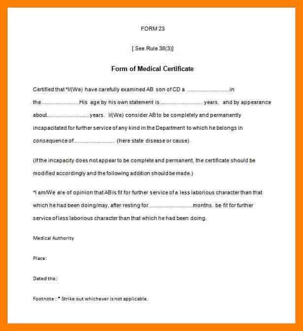 4+ sickness certificate format | simple cv formate