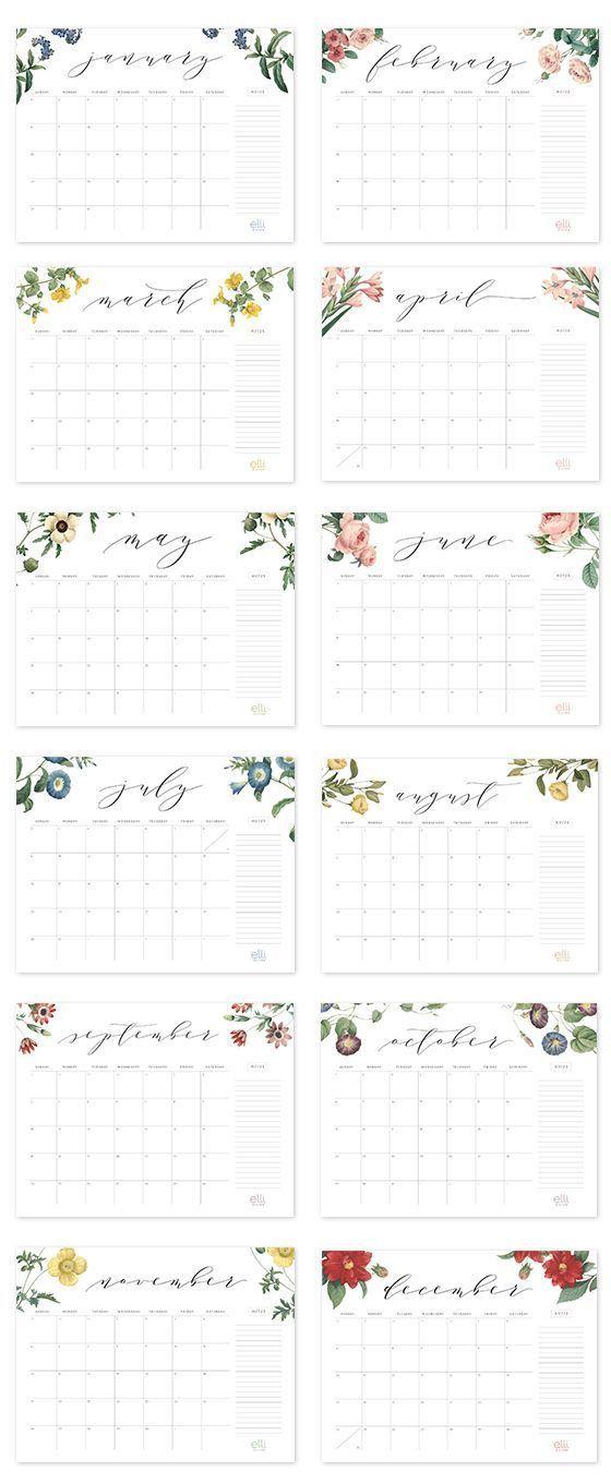 Best 25+ Free printable calendar ideas on Pinterest | Printable ...