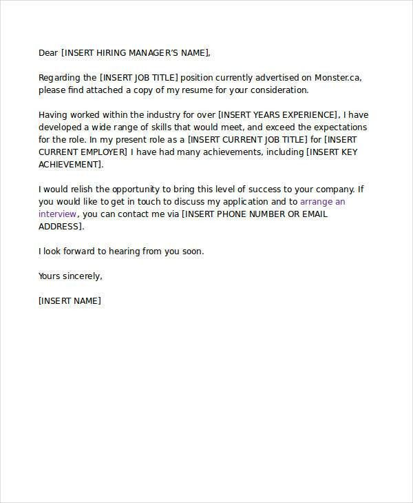 Formal Interview Letter. Job Cover Letter Sample 48+ Examples Of ...