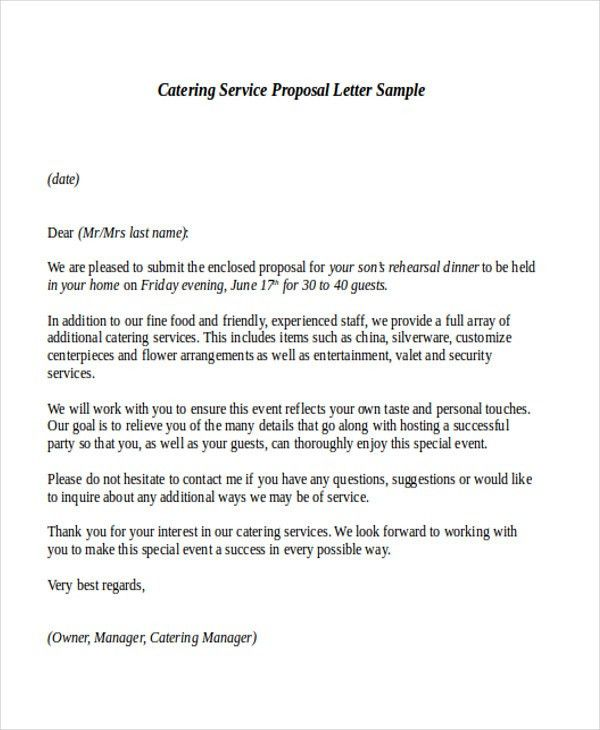 Proposal Letter Template. Job Proposal Letter Template Sample .