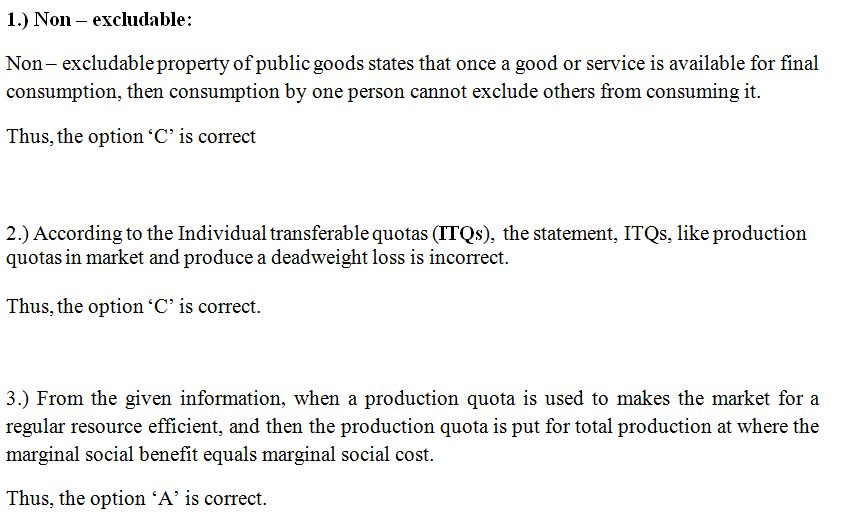 1.Which of the following items is an example of a nonexcludable ...