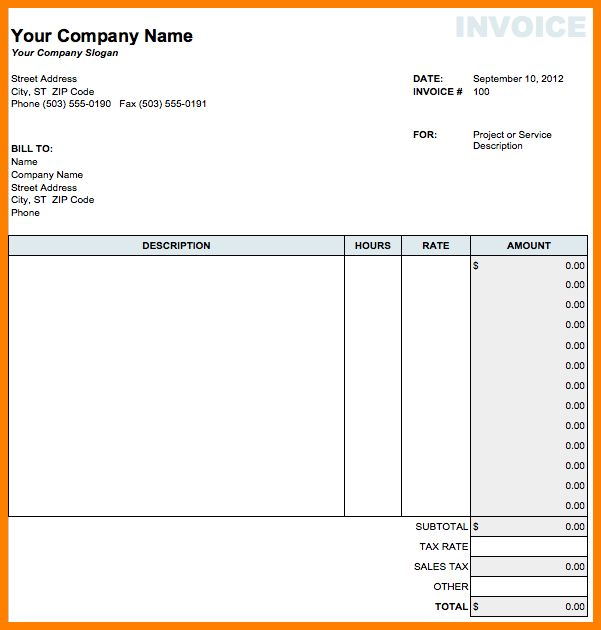 Invoice Template Numbers | free excel templates