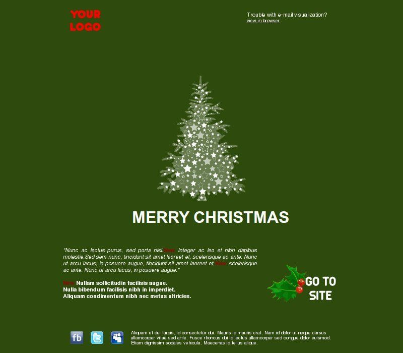 free christmas email templates