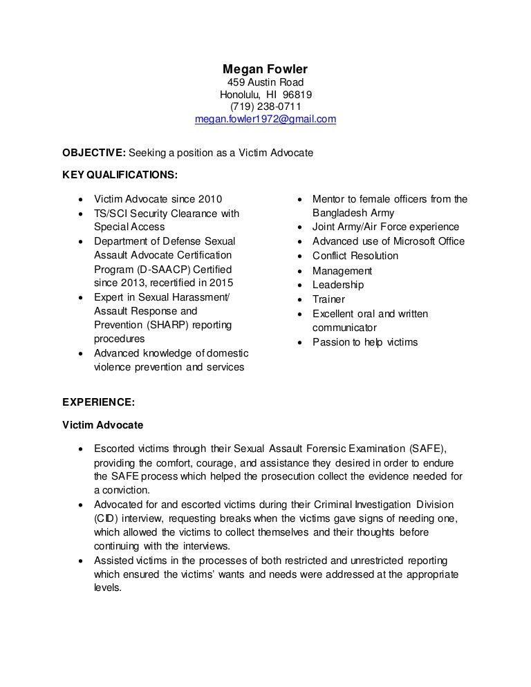 Patient Advocate Resume - Contegri.com