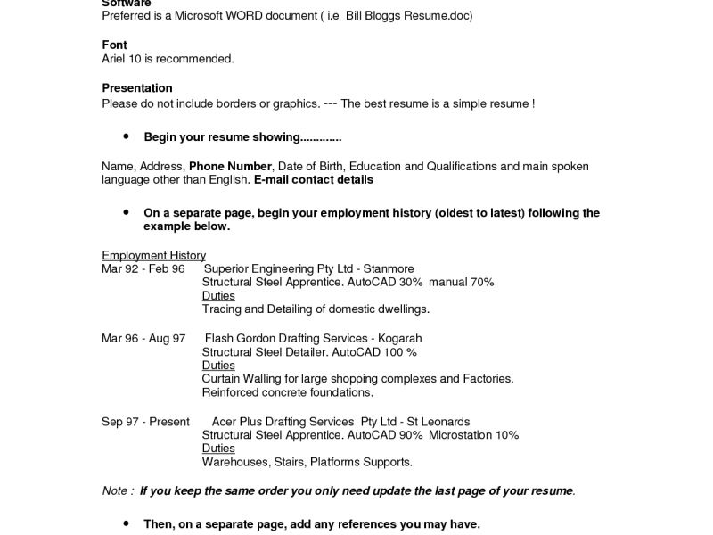 Awesome To Do Correct Resume Format 6 Proper Template - CV Resume ...