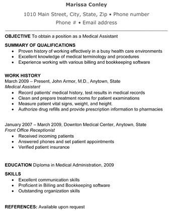 administrative medical assistant resumes