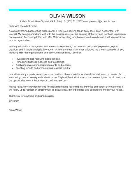 Accounting Cover Letter Sample with Accounting Cover Letter ...
