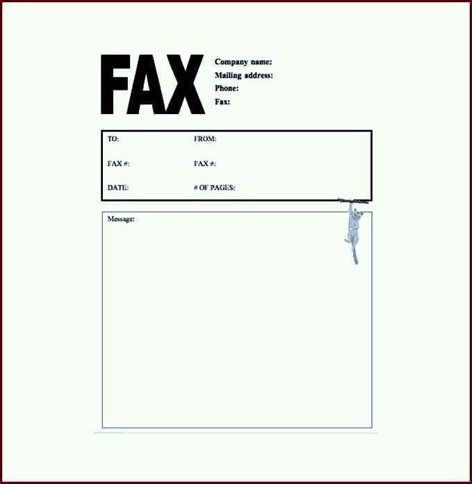 to 5 free fax cover sheet templates word templates excel templates ...