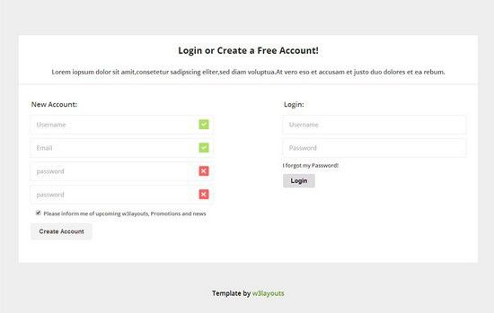 10+ Best HTML5 Signup & Registration Forms - Web Creative All