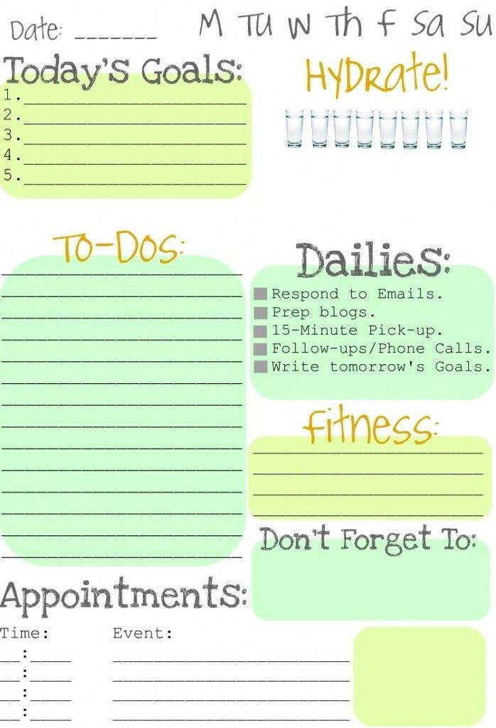 71 best To Do Lists (Get Organized!) images on Pinterest ...