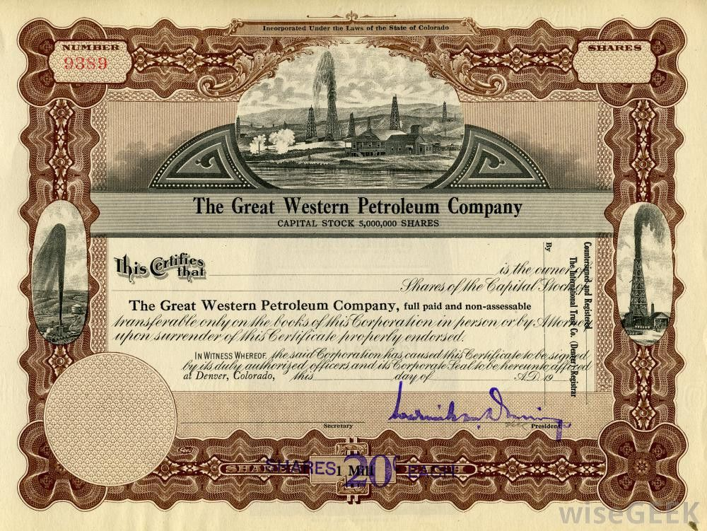 What is a Stock Certificate? (with pictures)