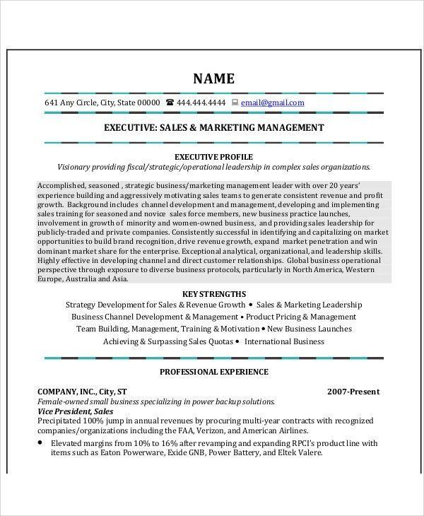41+ Sales Resume Templates | Free & Premium Templates