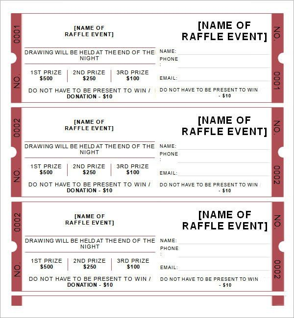 Sample Raffle Ticket Template - 20+ PDF, PSD, Illustration, Word ...