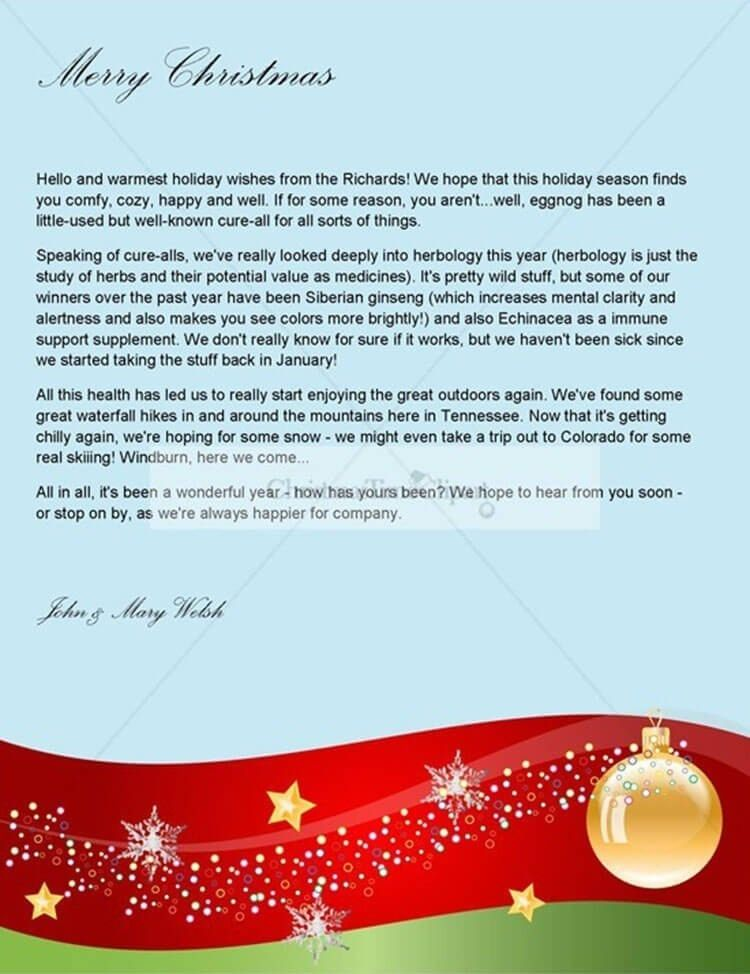 Writing A Christmas Letter Template | xmas2017.net